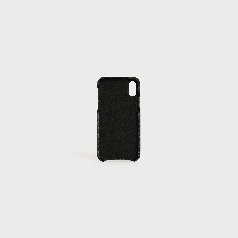 Cover per iPhone X e XS in pelle di agnello con stampa Triomphe ...
