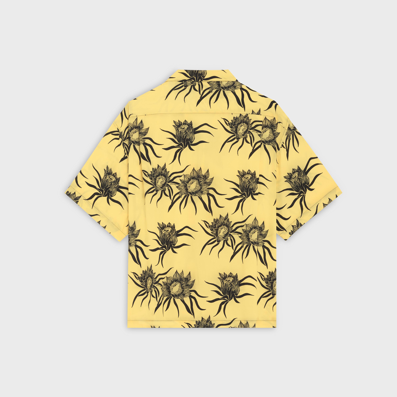LOOSE HAWAIIAN SHIRT IN PRINTED VISCOSE - Yellow / Black ...